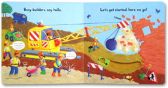 Busy Builder - Push Pull Slide Board Book