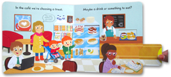 Busy Cafe - Push Pull Slide Board Book
