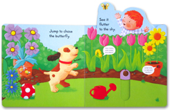 Busy Garden - Push Pull Slide Board Book