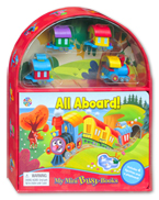 My Mini Busy Book All Aboard! includes 4 Figurines, a Playboard and a Board Book!