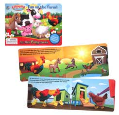 My Mini Busy Book Farmyard Friends Fun on The Farm! includes 4 Figurines, a Playboard and a Board Book!