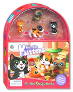 My Mini Busy Book Adorable Kittens includes 4 Figurines, a Playboard and a Board Book!