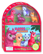 My Mini Busy Book Llamas and Alpacas includes 4 Figurines, a Playboard and a Board Book!