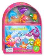 My Mini Busy Book Ocean Buddies includes 4 Figurines, a Playboard and a Board Book!