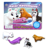 My Mini Busy Book Polar Adventures includes 4 Figurines, a Playboard and a Board Book!