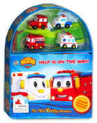 My Mini Busy Book Rescue Squad Help is on the Way! includes 4 Figurines, a Playboard and a Board Book!