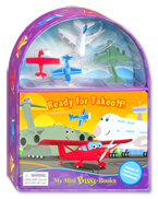 My Mini Busy Book Ready for Takeoff! includes 4 Figurines, a Playboard and a Board Book!