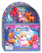 My Mini Busy Book Friends of the Unicorns includes 4 Figurines, a Playboard and a Board Book!