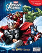 My Busy Book Marvel Avengers Assemble includes a Storybook, 12 Toy Figurines and a Giant Playmat