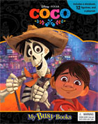 My Busy Book Disney Pixar Coco includes a Storybook, 12 Toy Figurines and a Giant Playmat