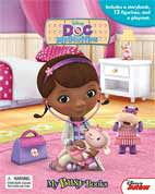 My Busy Book Disney Doc McStuffins includes a Storybook, 12 Disney Figurines and a Giant Playmat