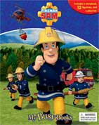 My Busy Book Fireman Sam includes a Storybook, 12 Toy Figurines and a Giant Playmat