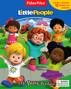 My Busy Book Fisher Price Little People includes a Storybook, 12 Disney Figurines and a Giant Playmat