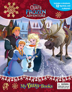 My Busy Book Disney Olaf's Frozen Adventure includes a Storybook, 12 Toy Figurines and a Giant Playmat