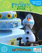 My Busy Book Disney Frozen Fever (Olaf) includes a Storybook, 12 Disney Figurines and a Giant Playmat