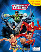 My Busy Book Justice League includes a Storybook, 12 Toy Figurines and a Giant Playmat
