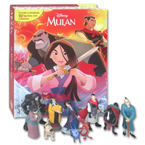 My Busy Book Disney Mulan includes a Storybook, 10 Figurines and a Playmat