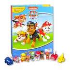 My Busy Book Paw Patrol includes a Storybook, 12 Toy Figurines and a Giant Playmat (Cover Dark Blue)