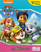 My Busy Book Paw Patrol (NEW) includes a Storybook, 12 Toy Figurines and a Giant Playmat (Cover Blue-Pink)