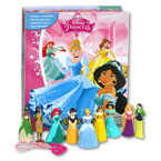 My Busy Book Disney Princess includes a Storybook, 12 Disney Figurines and a Giant Playmat (Cover Pink)
