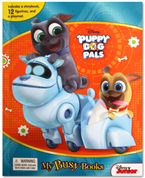 My Busy Books Disney Puppy Dog Pals includes a Storybook, 12 Toy Figurines and a Giant Playmat