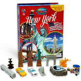 My Busy Book Around the World New York includes a Storybook, 12 Toy Figurines and a Giant Playmat