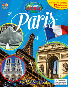 My Busy Book Around the World Paris includes a Storybook, 12 Toy Figurines and a Giant Playmat