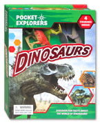 Pocket Explorers Dinosaurs 4 Figurines Inside! (Discover Fun Facts About the World of Dinosaurs!)