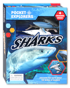 Pocket Explorers Sharks 4 Figurines Inside! (Discover Fun Facts About the World of Sharks!)