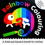 (SALE!!) Rainbow Colouring - A fold-out board book to colour with bumpy line pictures for easy colouring