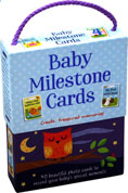 Baby Milestone Cards - 40 beautiful photo cards to record your baby's special moments