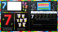 (SALE!!) Chalk Away 123 Board Book with 5 Colour Chalks and Wipe-clean Pages