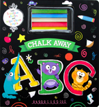 (SALE!!) Chalk Away ABC Board Book with 5 Colour Chalks and Wipe-clean Pages