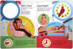 Tell the Time Board Book with an Interactive Clock