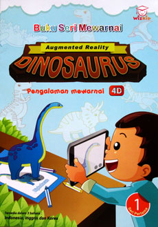 Augmented Reality DINOSAURUS 4D Coloring Book