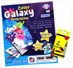 Math Game Color Galaxy Be My Friend 4D Augmented Reality Coloring & Activity Book