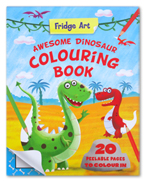 Fridge Art Awesome Dinosaur Colouring Book (20 Peelable Pages to Colour in)