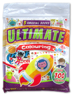 3 Amazing Books Ultimate Colouring Over 100 Stickers