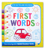 First Words Stay-in-the-Line Colouring Book (Easy Colouring With Raised Bumpy Lines)