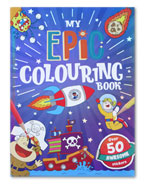 My Epic Colouring Book Over 50 Awesome Stickers