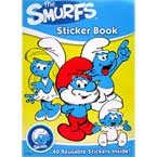 The Smurfs Colouring Book with over 40 Reusable Stickers inside!
