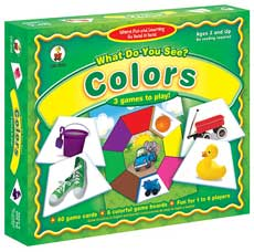 What Do You See? COLORS Board Game (3 Games to Play!) (SALE!!)
