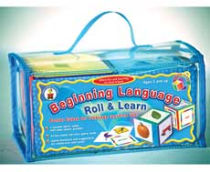 Beginning Language Roll & Learn (Pocket cubes for language learning fun) (SALE!!)