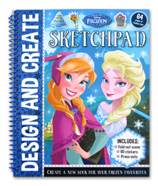 Disney Frozen Design and Create SKETCHPAD (Includes : Fold-out scene, Press-outs, 60 Stickers)