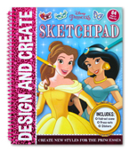 Disney Princess Design and Create SKETCHPAD (Includes : Fold-out scene, Press-outs, Stickers)