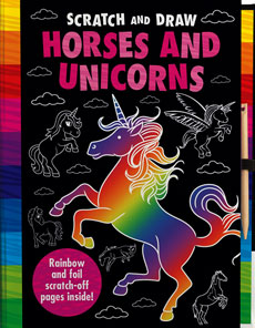 Scratch and Draw Horses and Unicorns - Rainbow and Foil Scratch-off Pages Inside!
