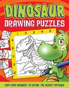 Dinosaur Drawing Puzzles - Copy Each Segment to Reveal the Secret Pictures