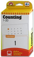 Evan Moor Countingn 1-20 Flash Cards (56 Cards)
