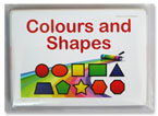 Flash & Learn COLOURS AND SHAPES Flash Cards (3 Bahasa)