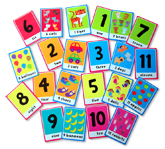 123 Tiny Tots Flash Cards (40 Large Flash Cards) (YEAR-END SALE)